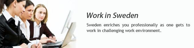 Work in Sweden